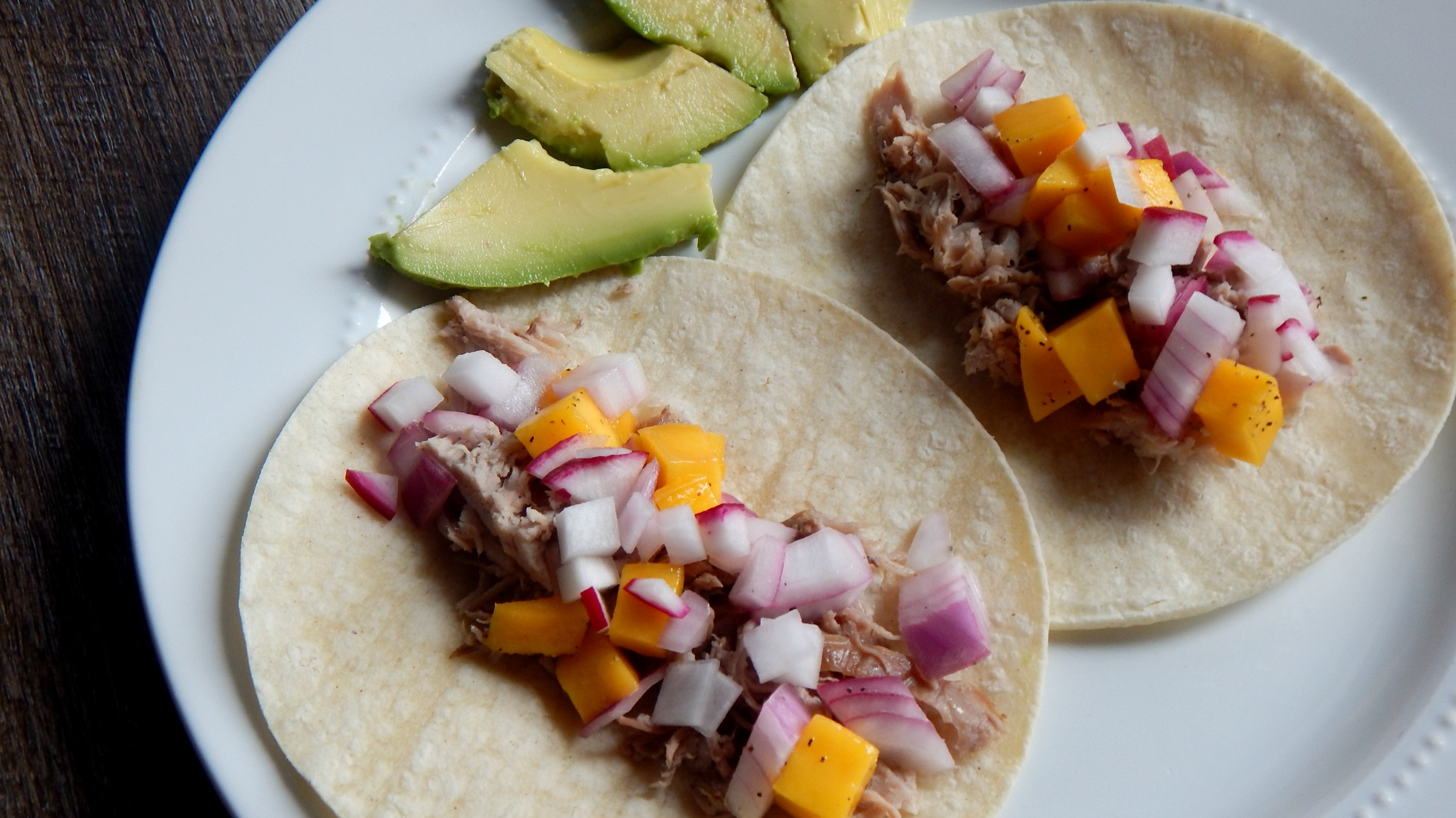 Pork Tacos with Honey Mango Relish by From Prosecco to Peaches